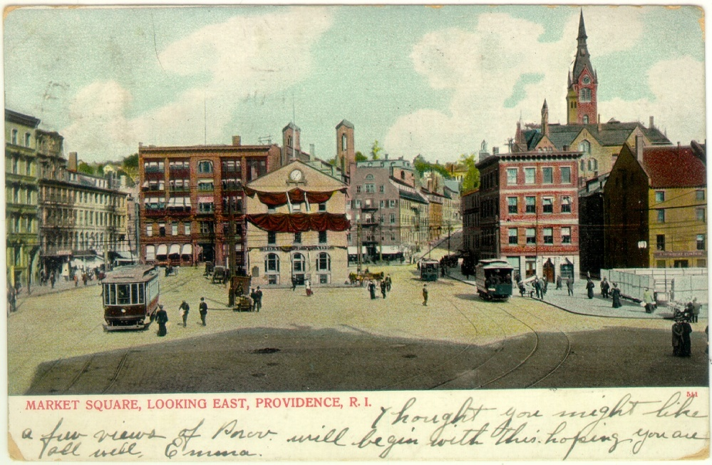 Market Square. Postcard from the Collection of Quahog.org.